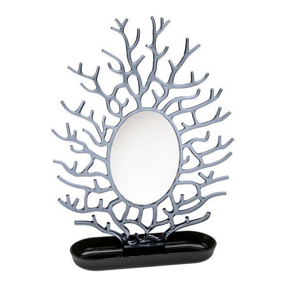 Porte bijoux avec miroir arebre bijoux noir koziol - Miroir avec porte bijoux ...