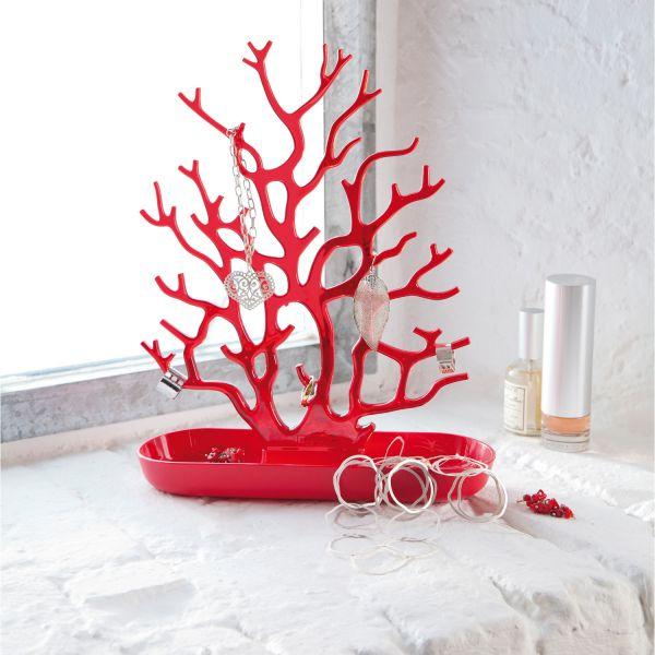 Porte bijoux rouge vide poche design koziol for Decoration porte rouge