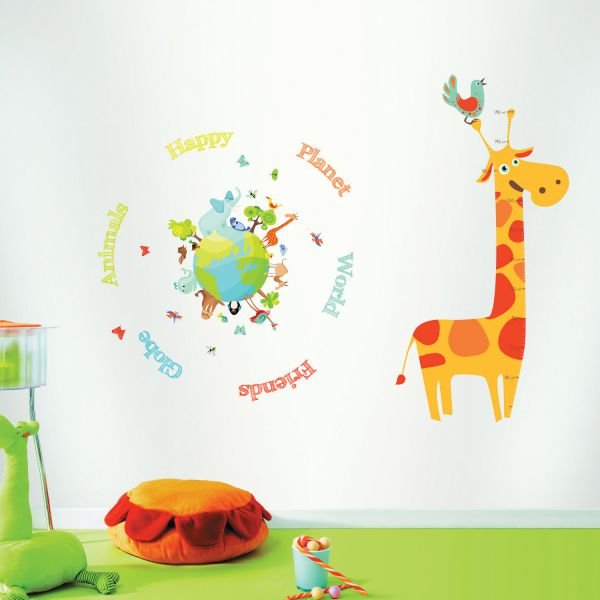 stickers enfant animaux stickers color s. Black Bedroom Furniture Sets. Home Design Ideas