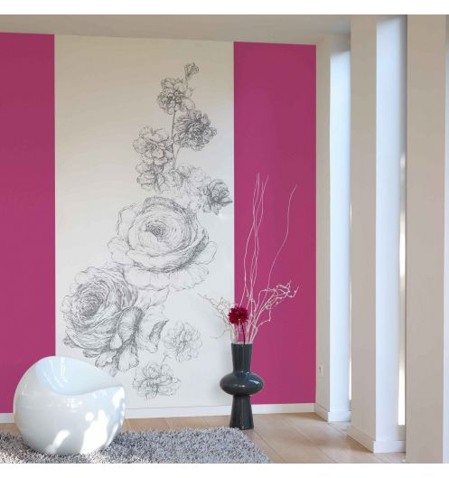 d cor mural num rique gravure. Black Bedroom Furniture Sets. Home Design Ideas