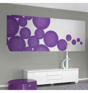 Décor mural numérique Fusion violet non tissée