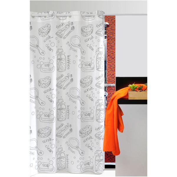 rideau de douche originale syst me de fixation pratique. Black Bedroom Furniture Sets. Home Design Ideas