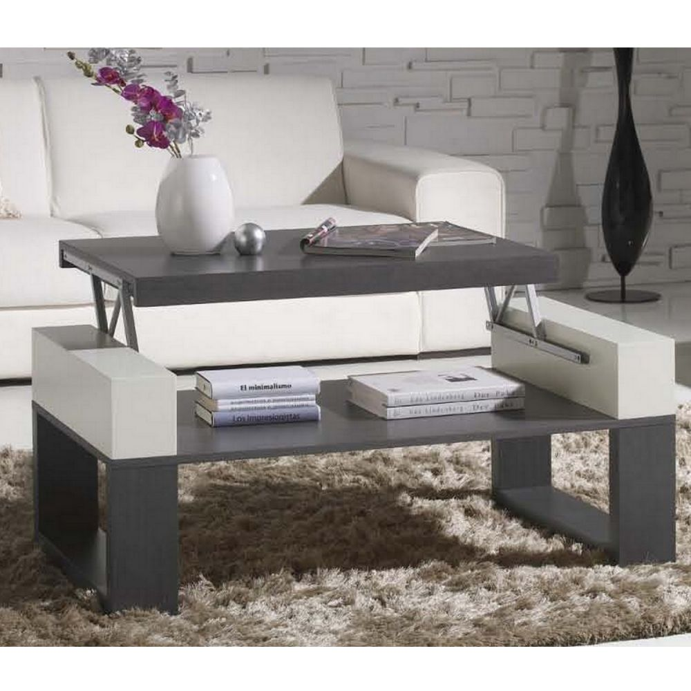 table basse relevable grise great table basse ronde laque blanc table basse relevable chene. Black Bedroom Furniture Sets. Home Design Ideas