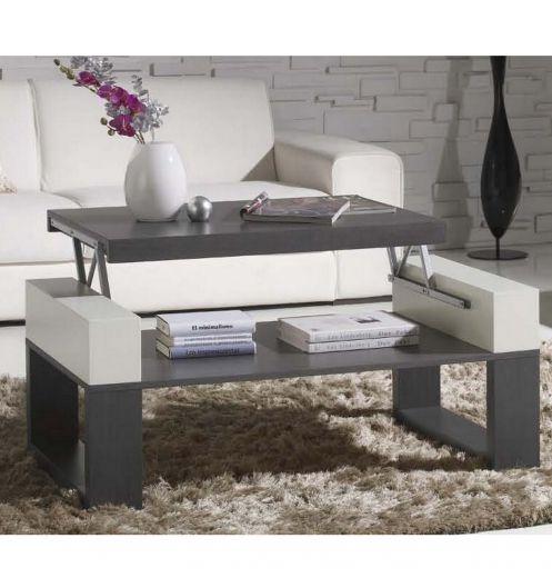 table basse relevable table bois cendr. Black Bedroom Furniture Sets. Home Design Ideas