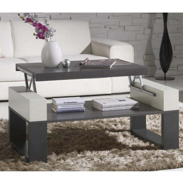 table basse relevable table bois cendr. Black Bedroom Furniture Sets. Home Design Ideas