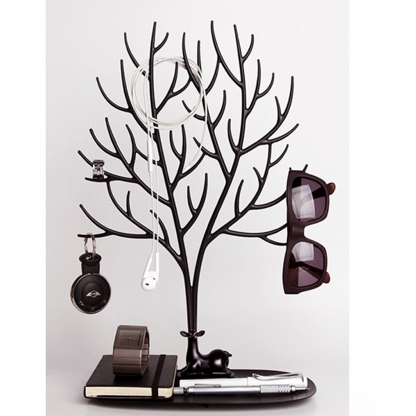arbre bijoux tendance noir arbre a bijoux qualy. Black Bedroom Furniture Sets. Home Design Ideas