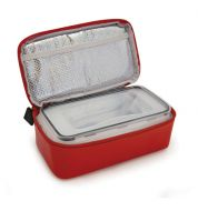 Lunch box isotherme IRIS rouge vinyle (sac + boite)