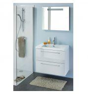 Meuble vasque salle de bain Blanc laqué (80cm)