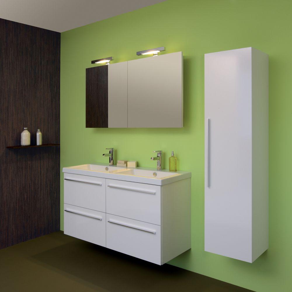 Stunning colonne salle de bain blanc laque contemporary for Meuble vasque salle de bain