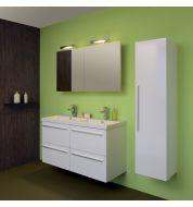 Meuble salle de bain double vasque Blanc laqué