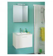 Meuble vasque salle de bain avec miroir (60cm)