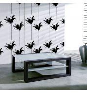 Table basse bicolore marron foncé et gris clair