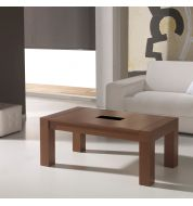 Table basse relevable rectangulaire marron