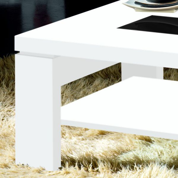 Table basse blanche laqu - Table basse blanche rectangulaire ...