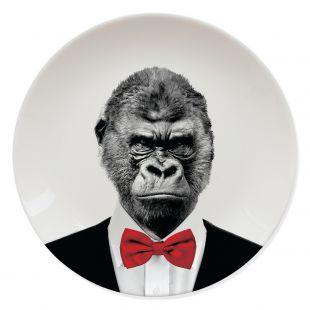 Assiette Gorille Sauvage Mustard