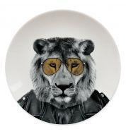 Assiette Lion Sauvage Mustard