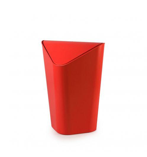 Poubelle salle de bain d 39 angle rouge umbra for Deco salle de bain rouge