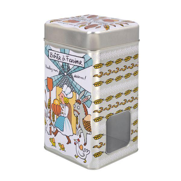 Boite m tal farine rangement et conservationd de la farine - Boite metal derriere la porte ...