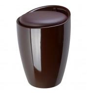 Tabouret coffre pop chocolat