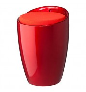 Tabouret coffre pop rouge