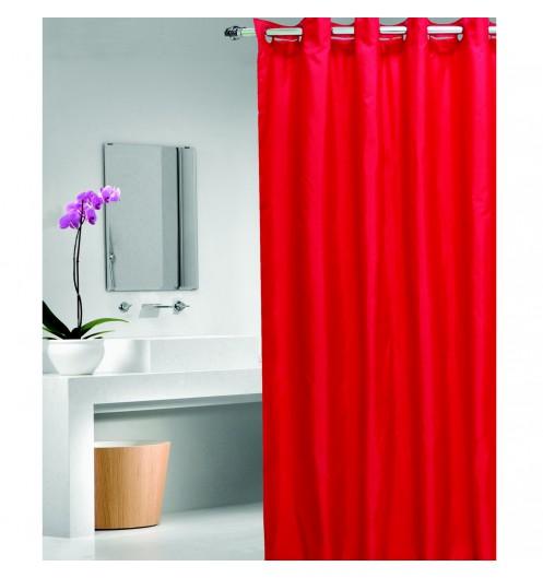 Rideau de douche rouge rideau de douche facile fixer - Rideau de douche personnalise ...