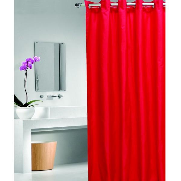 Rideau de douche rouge rideau de douche facile fixer - Rideau de douche fly ...