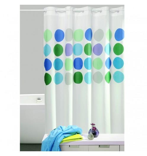 rideau de douche bleu originale accessoire douche. Black Bedroom Furniture Sets. Home Design Ideas