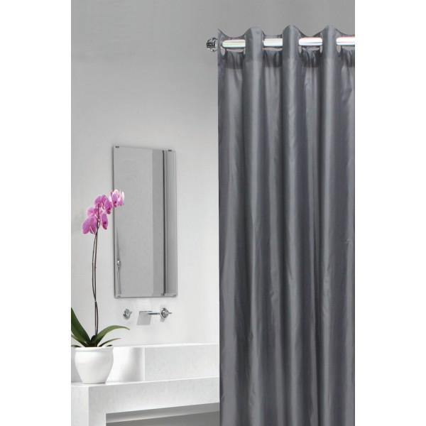 rideau de douche gris rideau salle de bain. Black Bedroom Furniture Sets. Home Design Ideas