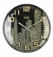 Horloge phosphorescente Manhattan noire