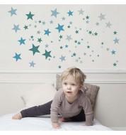 Sticker enfant Constellation bleu