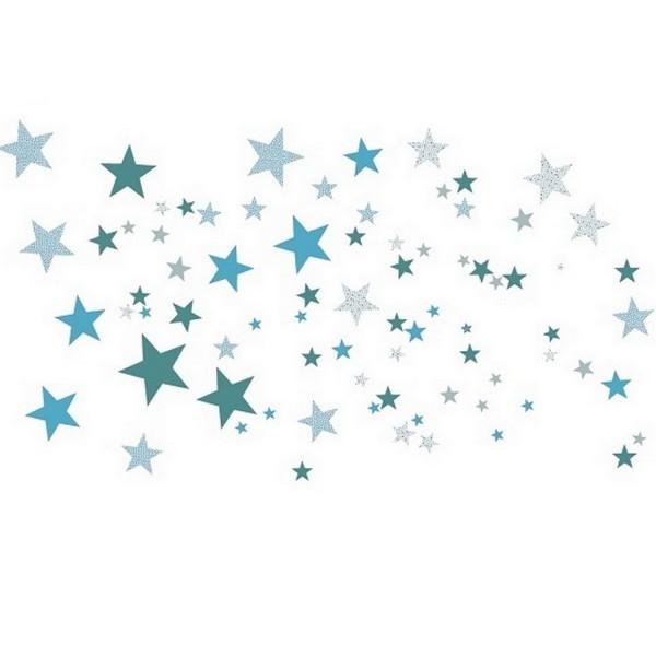 Sticker enfant mural stickers toile bleu - Stickers etoile chambre bebe ...