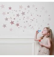 Sticker enfant Constellation rose