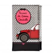 Porte papiers voiture vinyle noir/rose DLP