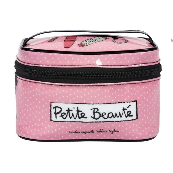 Vanity rose pour maquillage et petits accessoires petit - Toilette design pas cher ...