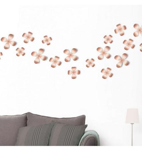 D coration fleurs cuivre d coration murale for Decoration murale cuivre