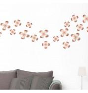 Décoration murale fleurs métal cuivré Umbra