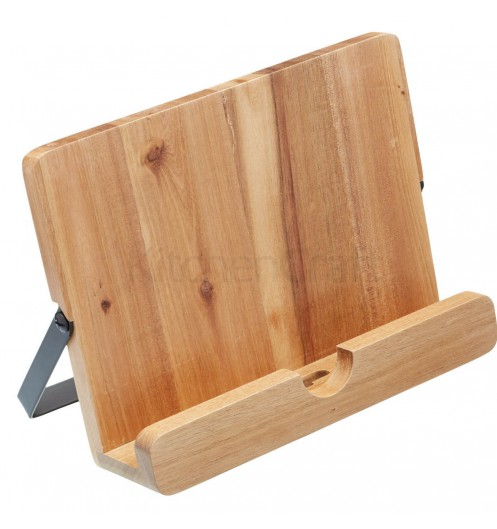Lutrin de cuisine porte tablette tactile for Tablette bois cuisine