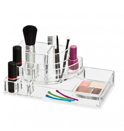 Rangement maquillage acrylique rangement make up wenko - Boite de rangement maquillage ...