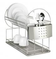 Egouttoir vaisselle 2 niveaux inox Wenko