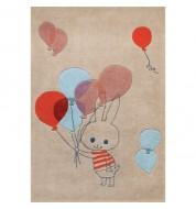 Tapis enfant lapin ballons Art for Kids
