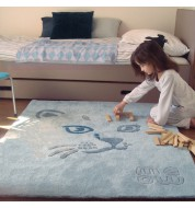 Tapis enfant Chat bleu Art for kids