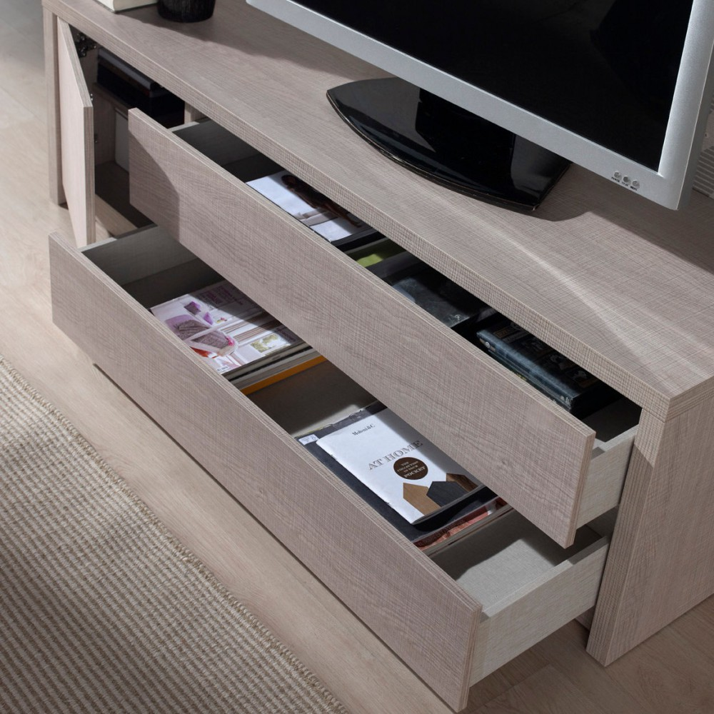 Meuble Tv Meuble T L Vision Salon Mobilier Deco Et Saveurs # Panneau Melamine Derriere La Tele