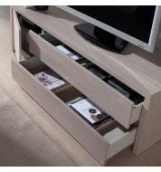 Meuble TV mélaminé chêne blanchi Concept