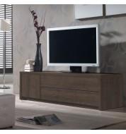 Meuble TV placage imitation chêne foncé Concept