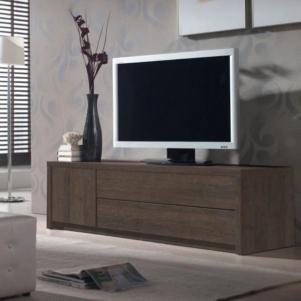 meuble tv placage ch ne concept. Black Bedroom Furniture Sets. Home Design Ideas