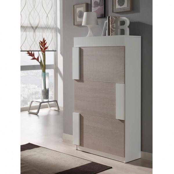 meuble chaussures beige et bois agglom r concept. Black Bedroom Furniture Sets. Home Design Ideas