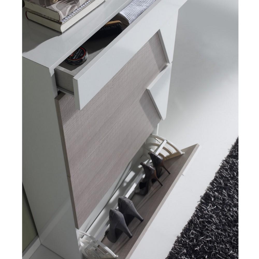 meuble à chaussures placage chêne design - concept - Meuble A Chaussure Design
