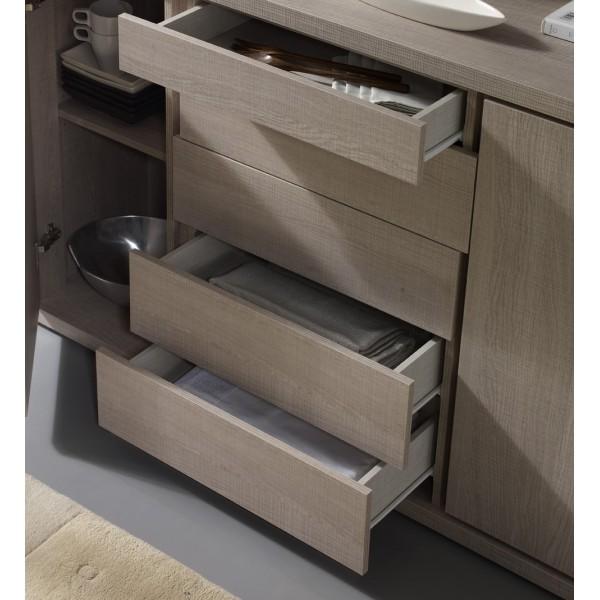 buffet beige vaisselle concept. Black Bedroom Furniture Sets. Home Design Ideas