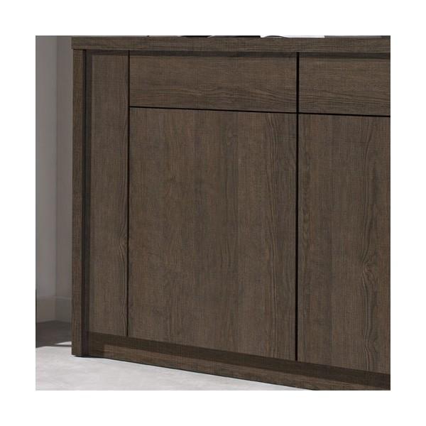 buffet placage m lamin imitation ch ne fonc concept. Black Bedroom Furniture Sets. Home Design Ideas