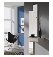 Meuble d'entrée + miroirs et tiroir effet chêne clair
